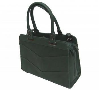 Angel kiss AK5990 green modische Tasche Kelly Bag Style, Shopper, 3 Hauptfächer, langer Trageriemen, 34x27x13 cm - Vorschau 2