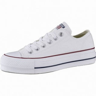 Converse Chuck Taylor All Star Lift - Ox Damen Canvas Sneakers white, 40 mm Plateausohle, 4142137/36