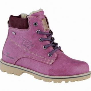 TOM TAILOR Mädchen Winter Synthetik Tex Boots berry, Warmfutter, 3739207