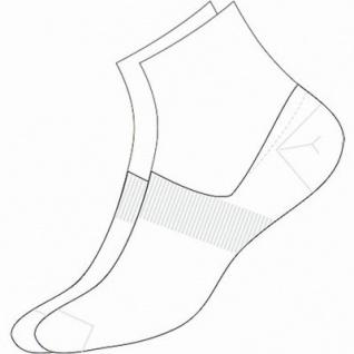 Camano Basic NOS Invisible white, 2er Pack Damen, Herren unsichtbare Sneaker Socken weiß, 74% Baumwolle, 6539110/39-42