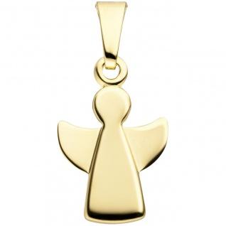 Anhänger Engel Schutzengel 333 Gold Gelbgold Schutzengelanhänger