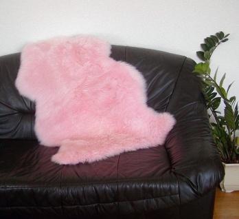 australische Lammfelle babyrosa gefärbt, vollwollig, 30 Grad waschbar, Haarlä...