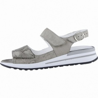 Waldläufer Halisha 20 Damen Leder Sandalen taupe, herausnehmbares Leder Fußbett, Comfort Weite G, 1540145/8.0