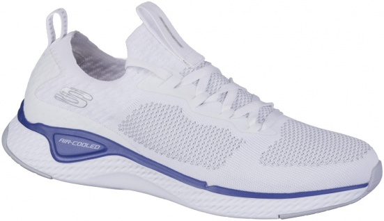 SKECHERS Solar Fuse Herren Sneakers white, Strickmaterial, Air Cooled Memory ...