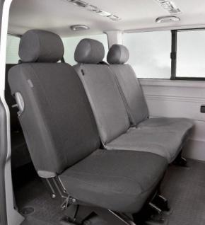 Passform Sitzbezüge Transporter VW T6, passgenauer Stoff Sitzbezug Einzelsitz hinten, ab Bj. 07/2015