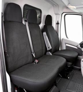 Passform Transporter Sitzbezüge Fiat Ducato, passgenauer Sitzbezug Einzelsitz+Doppelbank, Jacquard Stoff