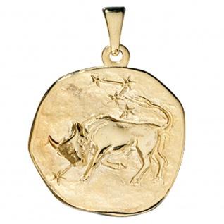 Anhänger Sternzeichen Stier 333 Gold Gelbgold Sternzeichenanhänger
