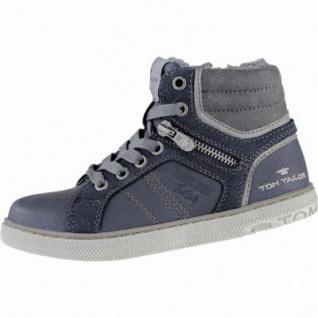 TOM TAILOR coole Jungen Synthetik Winter Sneakers navy, molliges Warmfutter, weiches Fußbett, 3739216