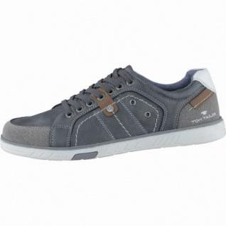 TOM TAILOR sportliche Herren Synthetik Sneakers coal, TOM-TAILOR Laufsohle, 2138131/41