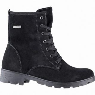 Ricosta Disera Mädchen Winter Leder Tex Boots schwarz, 13 cm Schaft, mittlere Weite, Warmfutter, warmes Fußbett, 3741259
