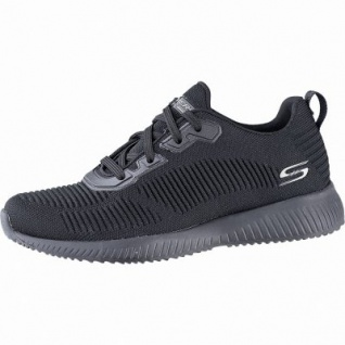 Skechers Bobs Squad Tough Talk coole Damen Strick Sneakers black, herausnehmbares Memory Foam-Fußbett, 4241139/36