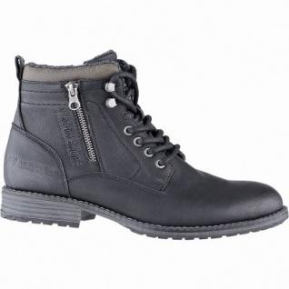 TOM TAILOR sportliche Herren Leder Imitat Winter Boots schwarz, 12 cm Schaft, molliges Warmfutter, warmes Fußbett, 2541117