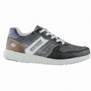 Dockers coole Herren Synthetik Sneakers grau, Dockers Laufsohle, Dockers Fußbett, 2140169