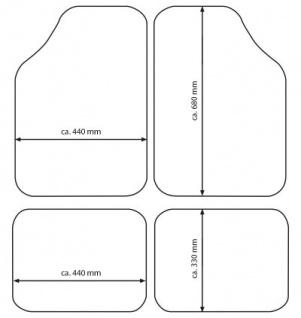 Komplett Set Universal Polyester Auto Fußraum Matten schwarz blau 4-teilig, rutschfest beschichtet, alle PKW - Vorschau 2