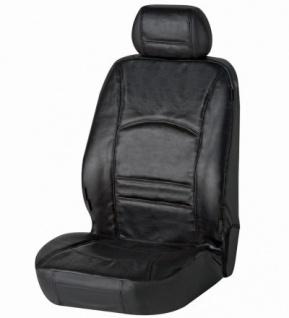 Universal Echt Leder Auto Sitzbezug schwarz für fast alle PKW, für Fahrersitz oder Beifahrersitz