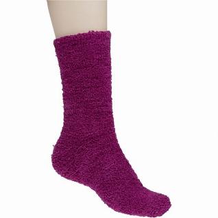 Camano Cuddle Socks, 2er Pack flauschige Damen Kuschel Socken berry
