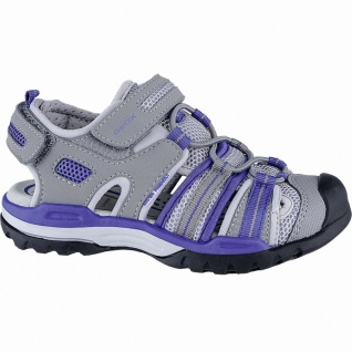 Geox coole Jungen Synthetik Sandalen grey, weiches Geox Fußbett, Antishock