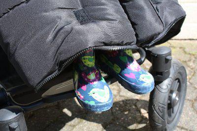 warmer Baby Lammfell Winter Fußsack marineblau waschbar, herausnehmbare Lammfell Einlage für Kinderwagen, Buggy, ca. 105x47 cm - Vorschau 2