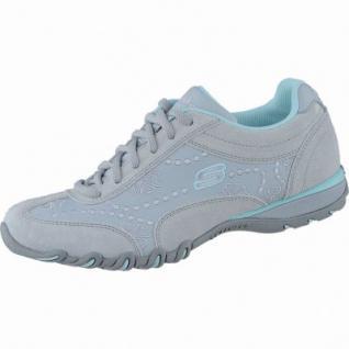 Skechers Lady Operator coole Damen Leder Sneakers grey aqua, Memory-Foam-Fußbett, 1238257/36