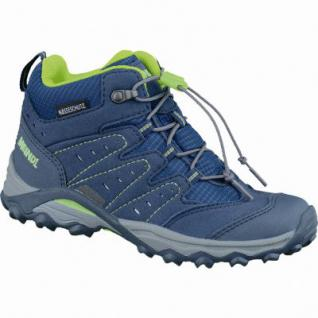 Meindl Tuam Junior Kinder Velour Mesh Trekkingschuhe blau lemon, Clima-Futter, Air-Active-Best-Fit-Fußbett, 4437125/33