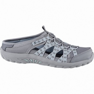 Skechers Reggae Fest coole Damen Mesh Sabots grey, Skechers Air Cooled Memory Foam-Fußbett, 1440215/36