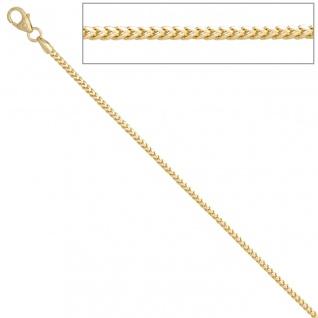 Bingokette 585 Gelbgold 1, 5 mm 45 cm Gold Kette Halskette Goldkette Karabiner