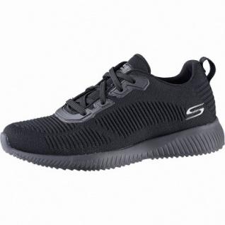 Skechers Bobs Squad coole Damen Strick Sneakers black, Skechers Memory Foam-Fußbett, 4142127/36