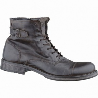 Jack&Jones JFW City Herren Leder Boots brown stone, Canvas-Futter, 2537170/41