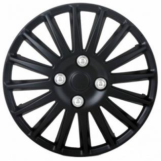 4er Set Universal Radkappen Engine 15 Zoll schwarz, Doppel Lackierung, Federstahlring, Radzierblenden, Radblenden