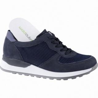 reputable site 31d54 0c1d2 Waldläufer Hiroko 20 sportliche Damen Leder Sneakers marine, Extra Weite H,  Leder Fußbett, für lose Einlagen, 1342147/4.0