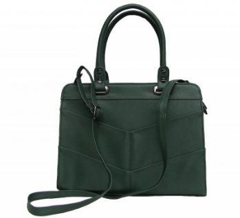 Angel kiss AK5990 green modische Tasche Kelly Bag Style, Shopper, 3 Hauptfächer, langer Trageriemen, 34x27x13 cm