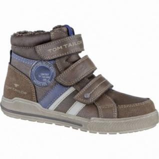 TOM TAILOR coole Jungen Synthetik Winter Sneakers rust, molliges Warmfutter, weiches Fußbett, 3739212/39