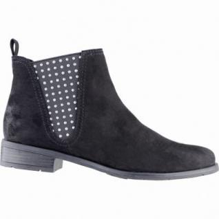 Marco Tozzi coole Damen Velour Imitat Winter Chelsea Boots schwarz, Warmfutter, weiche Decksohle, 1639344