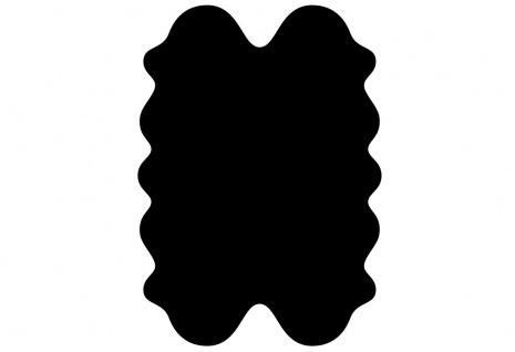 exklusive Lammfell Fellteppiche schwarz gefärbt, 4 Einzelfelle, waschbar, Haa...