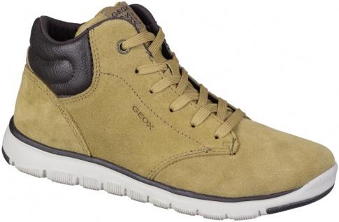 GEOX Jungen Leder Sneaker dark yellow, Meshfutter, Geox Memory Foam Decksohle