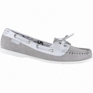 Dockers sportliche Damen Leder Mokassins grau, weiches Fußbett, 1240213/39