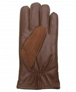 Fingerhandschuhe Lammfell, Herren Fellhandschuhe braun, Größe 9 - Vorschau 2