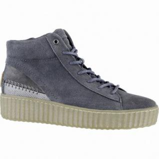 Dockers mega coole Damen Leder Sneakers grau, Textilfutter, Plateaulaufsohle, 1639274