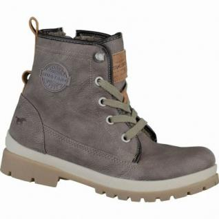 Mustang coole Jungen Leder-Imitat Winter Boots erde, Warmfutter, warme Decksohle, 3737118