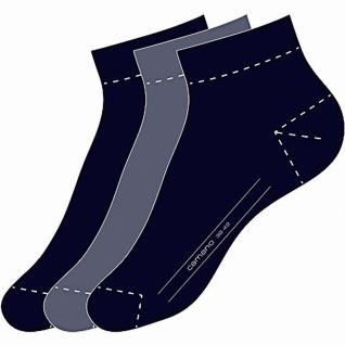 Camano Basic NOS Ca-Soft Quarter 3er Pack Damen, Herren Socken navy