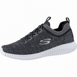 Skechers Elite Flex hartnell coole Herren Strick Sneakers black, Skechers Air Cooled Memory Foam-Fußbett, 4240167/42