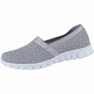 Skechers EZ Flex coole Damen Macrame Mesh Slipper grey, Memory Foam-Fußbett