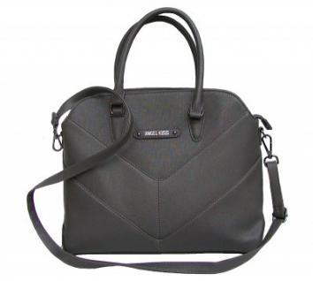 Angel kiss AK5968 grey modische Tasche, Handtasche, Shopper, 1 Hauptfach, langer Trageriemen, 36x30x10 cm