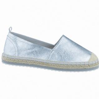 Marco Tozzi coole Damen Synthetik Slipper silber metallic, komfortable Decksohle, 1238137