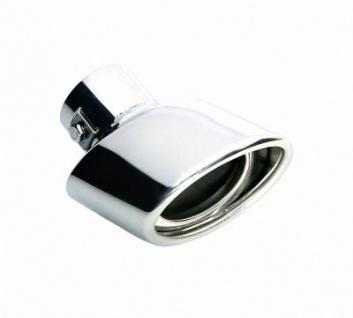 LAMPA TS-31 Universal Edelstahl Auspuff Blende, Endrohr, Ø 27-35 mm, 40x70x105x75 mm, Endtopf, Auspuffrohr, Sportauspuff