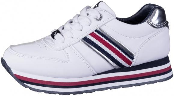 TOM TAILOR Damen, Mädchen Leder Imitat Sneakers white, weiches Fußbett, Texti...