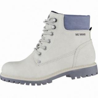 TOM TAILOR coole Damen Leder Imitat Winter Boots ice, Warmfutter, Profil-Laufsohle, 1639293/39