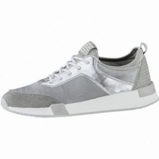 TOM TAILOR coole Damen Synthetik Sneakers grey, Tom Tailor-Memory-Effekt-Fußbett, 1240178/40