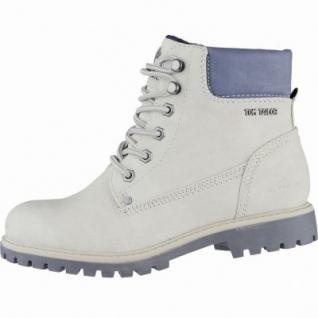 TOM TAILOR coole Damen Leder Imitat Winter Boots ice, Warmfutter, Profil-Laufsohle, 1639293