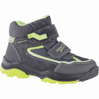 Superfit Jungen Winter Synthetik Gore Tex Boots grau, angerautes Futter, warmes Fußbett, 3741149/34